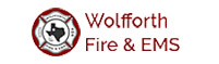 Wolfforth Fire & EMS logo.